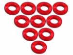 Aluminium M3 Flat Washer 1.0mm (10 Pcs) - Red