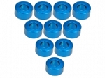 Aluminium M3 Flat Washer 3.0mm (10 Pcs) - Light Blue