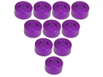 Aluminium M3 Flat Washer 3.0mm (10 Pcs) - Purple