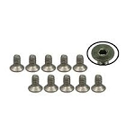M2 x 4 Titanium Flat Head Hex Socket - Machine (10 Pcs)