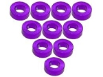 Aluminium M3 Flat Washer 2.5mm (10 Pcs) - Purple
