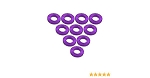 Aluminium M3 Flat Washer 0.5mm (10 Pcs) - Purple