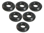 Shock Tower Shim M8 x 2mm (6pcs) - Black