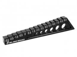 Chassis Droop Gauge -3.5 to 9.5mm - Black