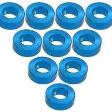 Aluminium M3 Flat Washer 1.5mm (10 Pcs) - Light Blue